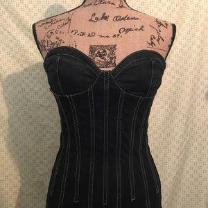 Dark Denim Fitted Dress